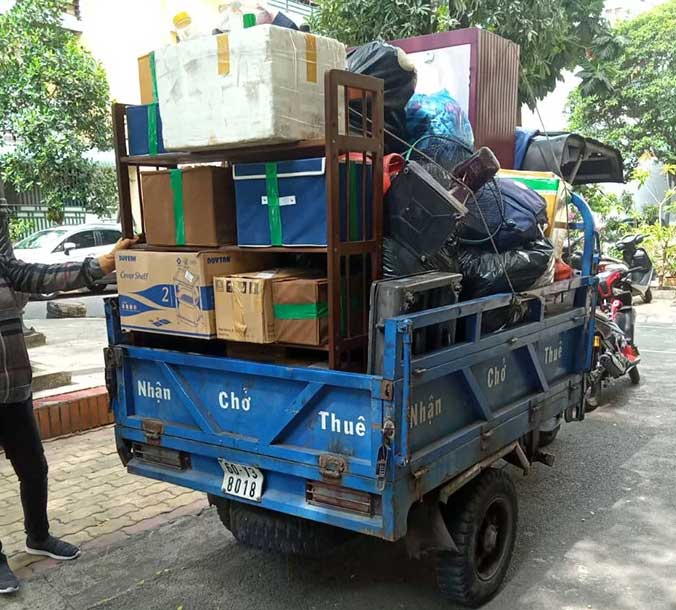 Xe lôi 3 bánh là phương tiện di chuyển linh động và tiện ích