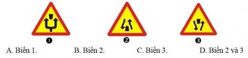 xe cần giảm tốc độ và đi theo chỉ dẫn trên biển báo