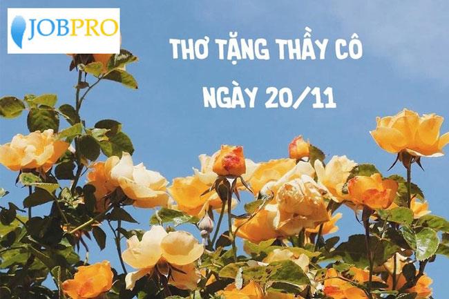 Bài viết tri ân thầy cô nhân ngày nhà Giáo Việt Nam 20-11
