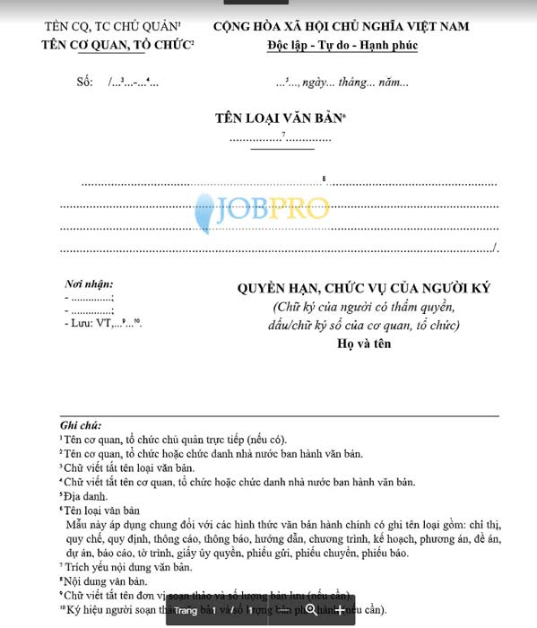 Mẫu thông báo tuyển dụng