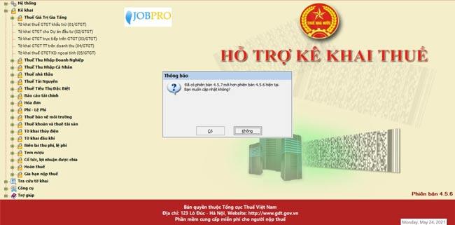 Phần mềm kê khai thuế miễn phí HTKK 4.5.7